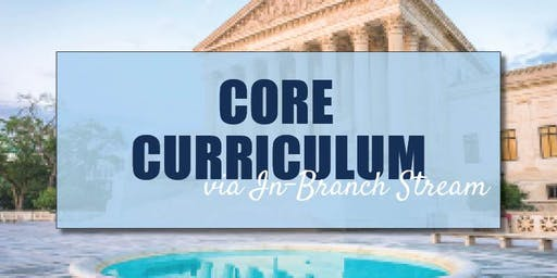 CB Bain   Core Curriculum (3 CH-WA)   via Spark   December 5th 2019