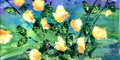 Floral Sponge Painting: Monday Aug 26, 9am-12noon