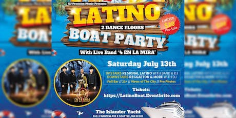 Latino Boat Party With Band tickets