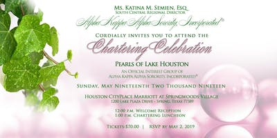 Pearls of Lake Houston Chartering Celebration