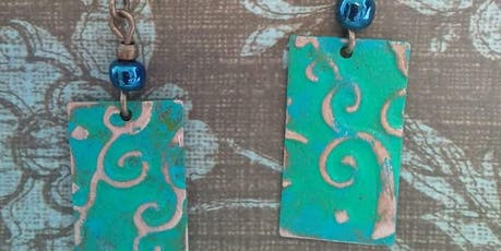 Embossed Metal Jewelry Class tickets