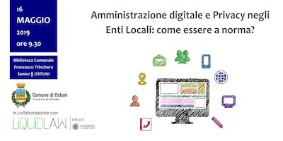 Amministrazione digitale e Privacy negli  Enti Loc