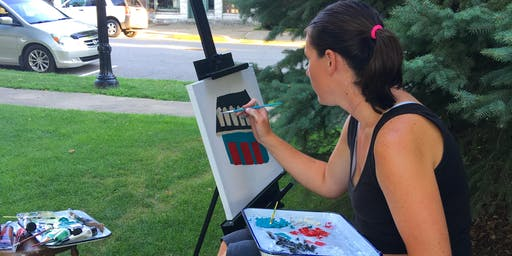"""""""Plein Air in the Park"""" Outdoor Easel Painting"""