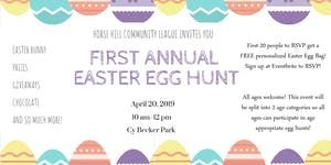 Horse Hill Community's First Annual Easter Egg Hunt