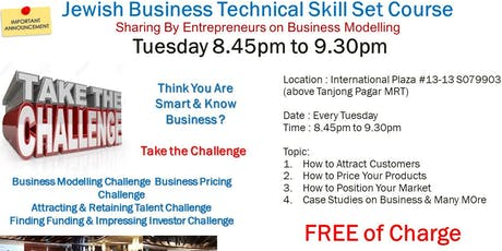 Jewish Business Technical Skill Sets Course (FREE) tickets