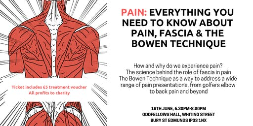 Pain: Everything you need to know about Pain, Fascia & the Bowen Technique