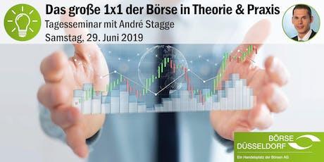 Das große 1x1 der Börse in Theorie & Praxis 2019 - Tagesseminar mit André Stagge Tickets
