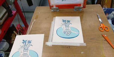 Screen Printing on SATURDAY 29th June with Emily Gillmor and Chris Mercier