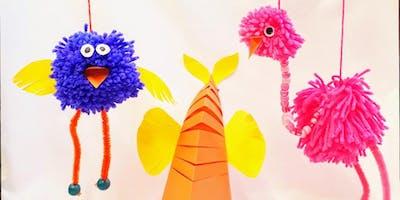 Pompom marionettes