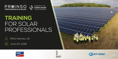 PROINSO Training for Solar Professionals - SMA / HT SAAE / Mounting Systems