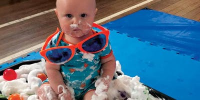 Messy play: At the beach