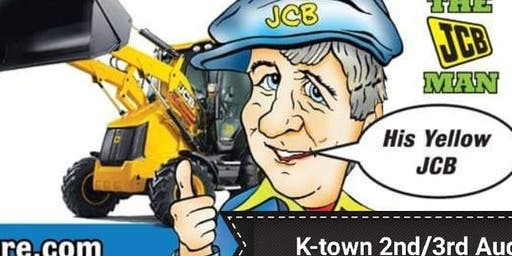Seamus Moore In K-Town. The JCB man on the Friday August bank holiday