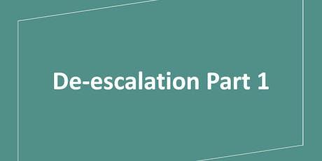 De-escalation Part 1 tickets