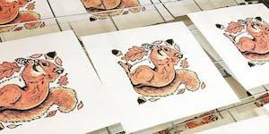 Reduction Block Printing on the Vandercook Letterpress