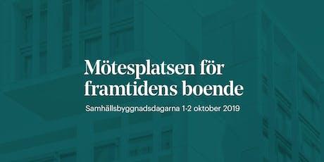 Samhällsbyggnadsdagarna 1-2 oktober 2019  tickets