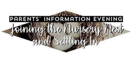 Parents' Information Evening - Thursday 17th October2019 DD tickets
