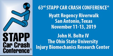 63rd Stapp Car Crash Conference - Nov 11-13, 2019 tickets