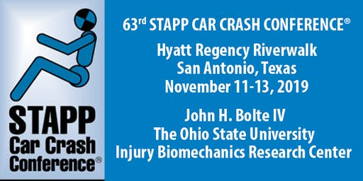 63rd Stapp Car Crash Conference - Nov 11-13, 2019