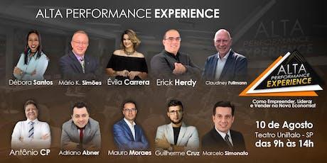 VITOR - ALTA PERFORMANCE EXPERIENCE - Como Empreender, Liderar e Vender na Nova Economia! ingressos