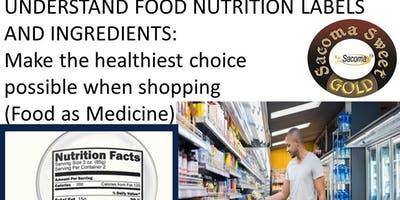 UNDERSTAND FOOD NUTRITION LABELS AND INGREDIENTS,