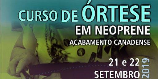 Curso de Órtese em Neoprene Acabamento Canadense São Paulo
