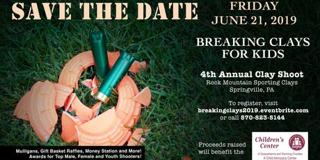 Breaking Clays for Kids 4th Annual Clay Shoot tickets