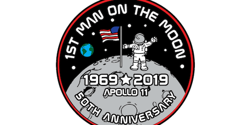 2019 First Man On The Moon 1 Mile, 5K, 10K, 13.1, 26.2 -Raleigh