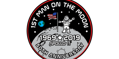 2019 First Man On The Moon 1 Mile, 5K, 10K, 13.1, 26.2 -Spokane