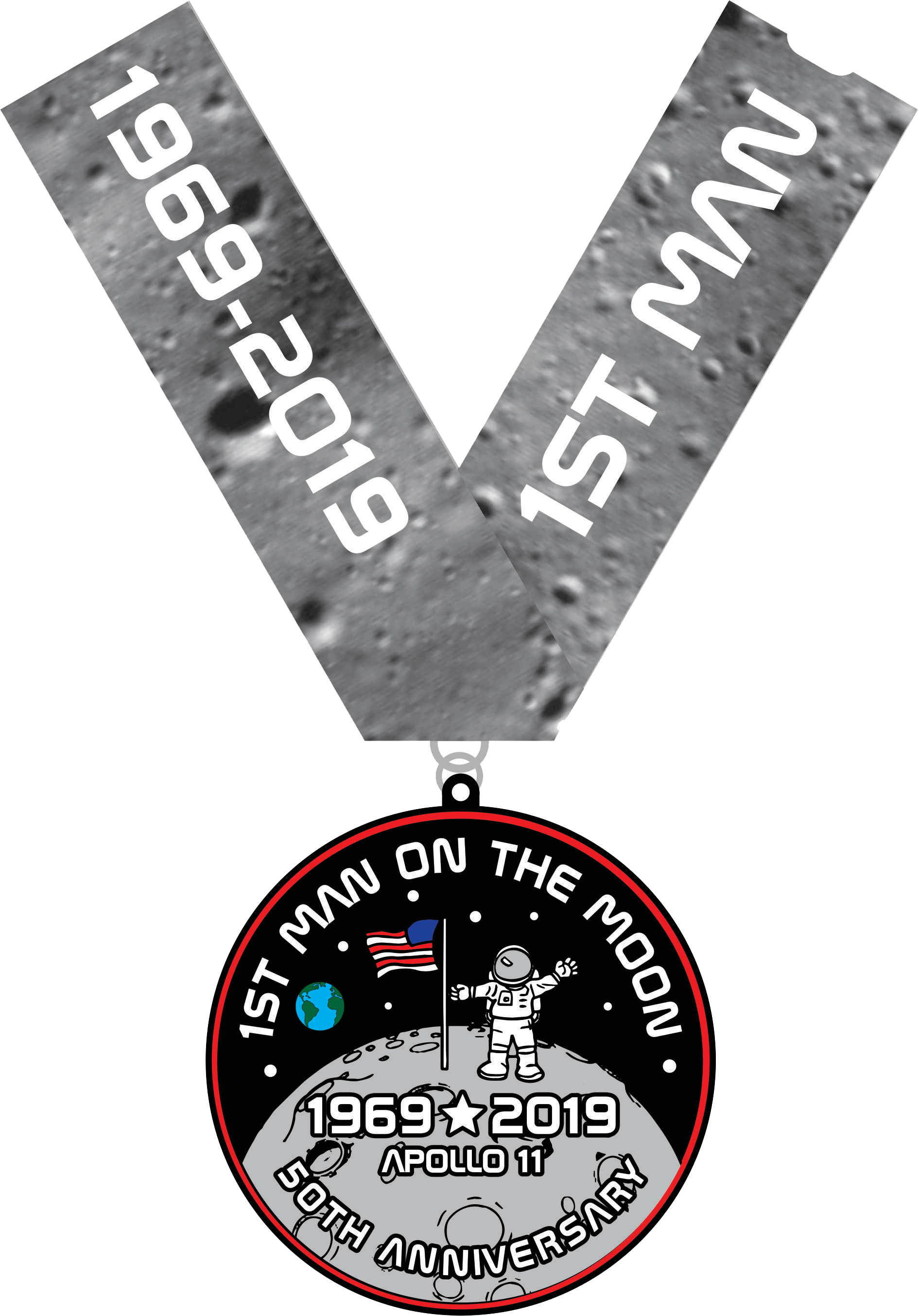 2019 First Man On The Moon 1 Mile, 5K, 10K, 13.1, 26.2 -Tucson