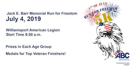 Jack E Barr Memorial Run for Freedom 2019 tickets