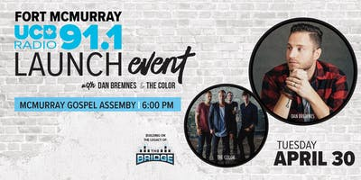Fort McMurray UCB Radio 91.1 FM Launch Event - with Dan Bremnes & The Color