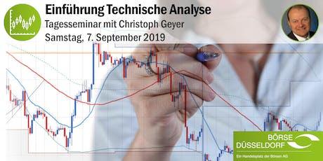 Einführung Technische Analyse 2019 - Tagesseminar mit Christoph Geyer Tickets