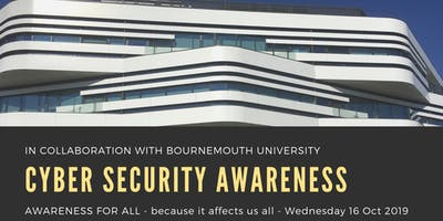 Dorset Cyber Security Awareness event, 16 Oct 2019.