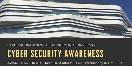 Dorset Cyber Security Awareness event, 16 Oct 2019. tickets