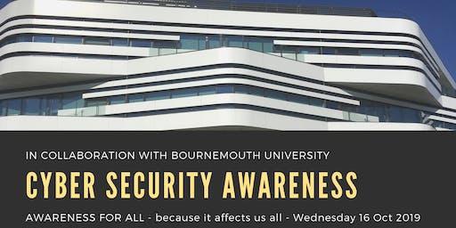 Dorset Cyber Security Awareness event, 16 Oct 2019.