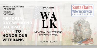 Memorial Day Weekend Backpack Walk To Honor Our Veterans