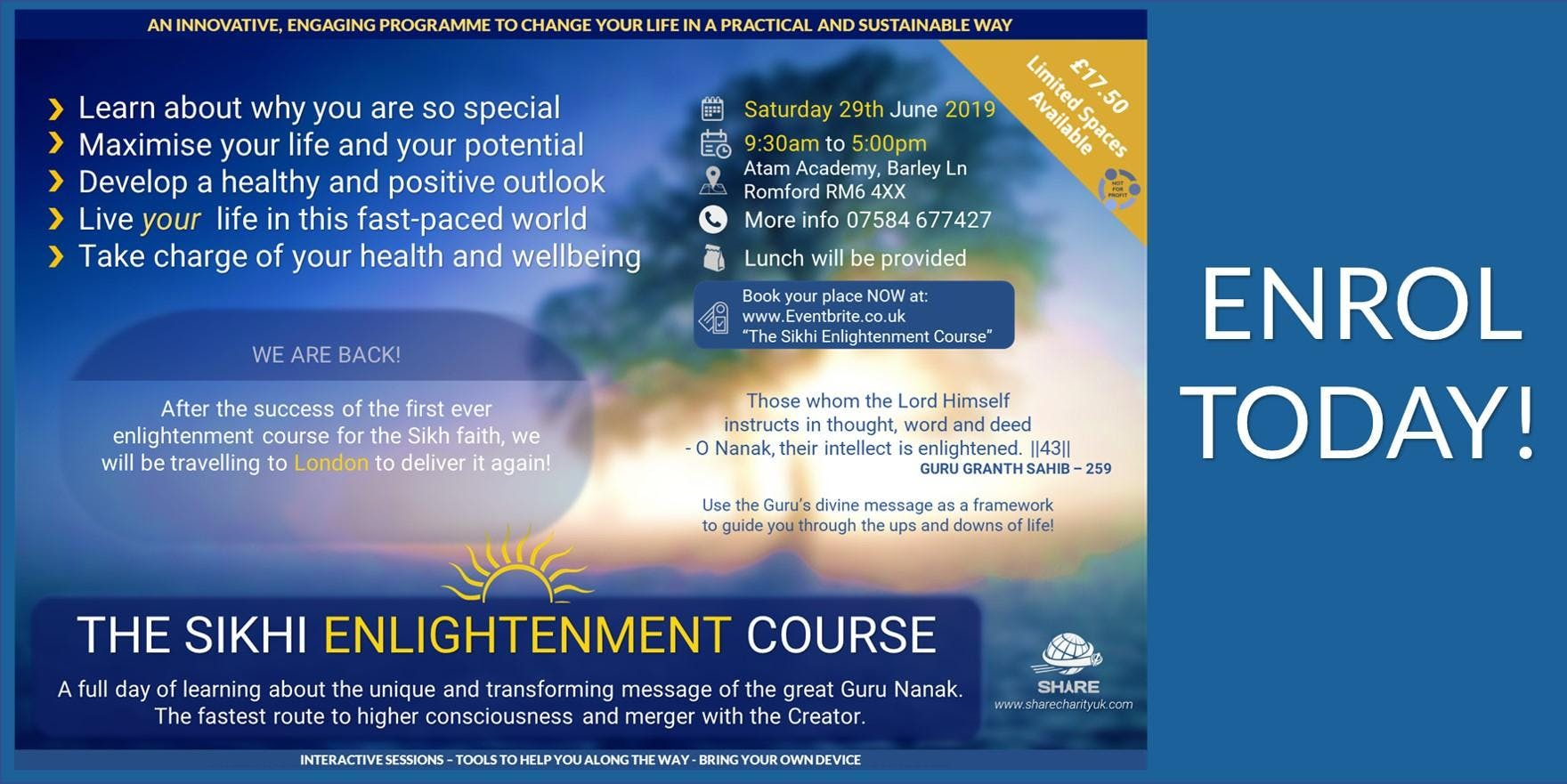 The Sikhi Enlightenment Course (East London)