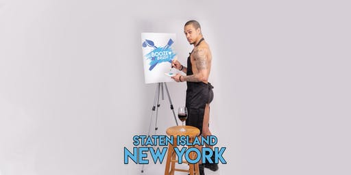 Booze N' Brush Next to Naked Sip n' Paint Staten Island, NY - Exotic Male Model Painting Event
