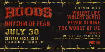 HOODS, Rhythm of Fear At Skylark Social Club