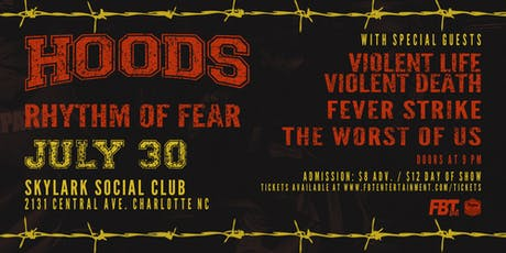 HOODS, Rhythm of Fear At Skylark Social Club tickets