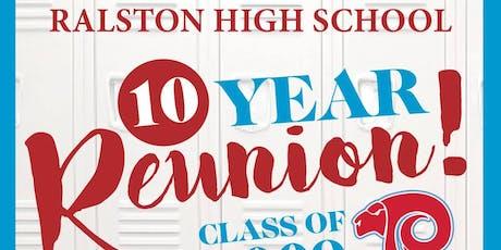Ralston High School - Class of 2009 - Reunion tickets