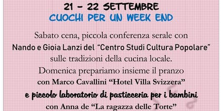 Cuochi per un Week end tickets