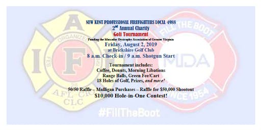 New Kent Professional Firefighters Local 4988 2nd Annual Charity Golf Tournament