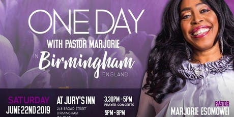 Pastor Marjorie Esomowei In Birmingham England For Only One Day tickets