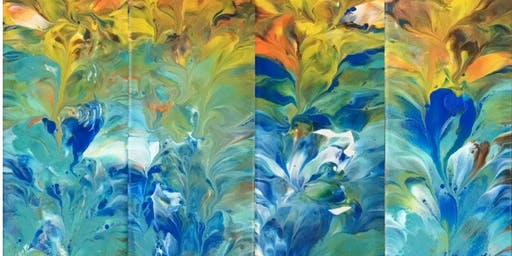 Acrylic Pouring:Aug 29, 9am-12noon