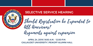 Selective Service Hearing: Should Registration be...