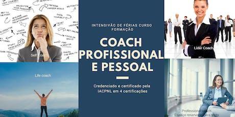 Curso INTENSIVÃO formação Coach profissional e pessoal ingressos
