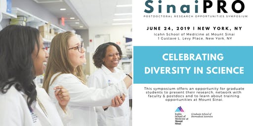 SINAIPRO: Celebrating Diversity in Science (Postdoctoral Research Opportunities)at Mount Sinai