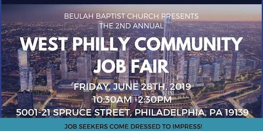 2ND ANNUAL WEST PHILLY COMMUNITY JOB FAIR