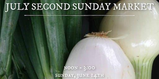 July Second Sunday Market